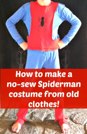 how to make a spiderman costume