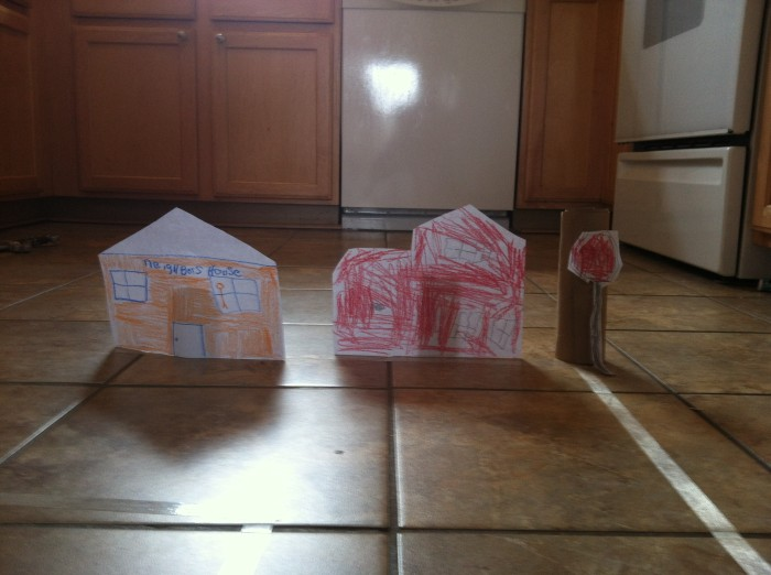 making a town with kids