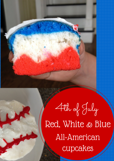 red white and blue baseball cupcakes four plus an angel. Black Bedroom Furniture Sets. Home Design Ideas