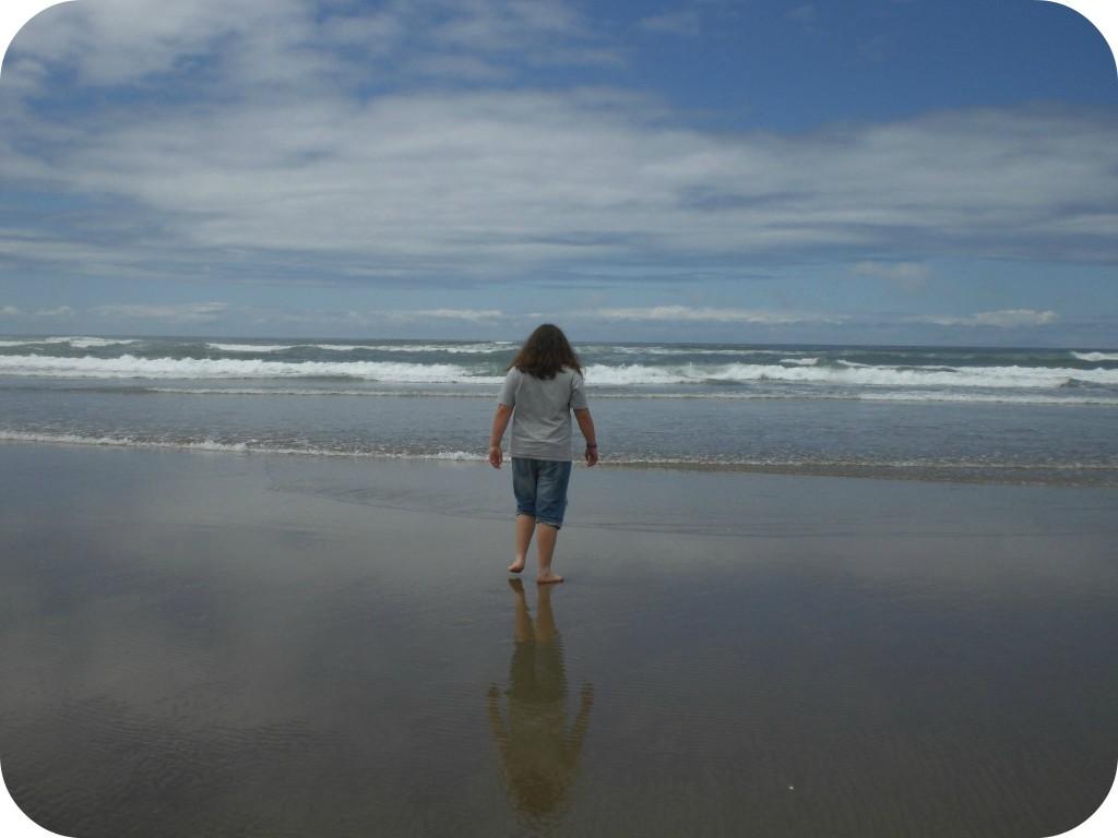 at the shore