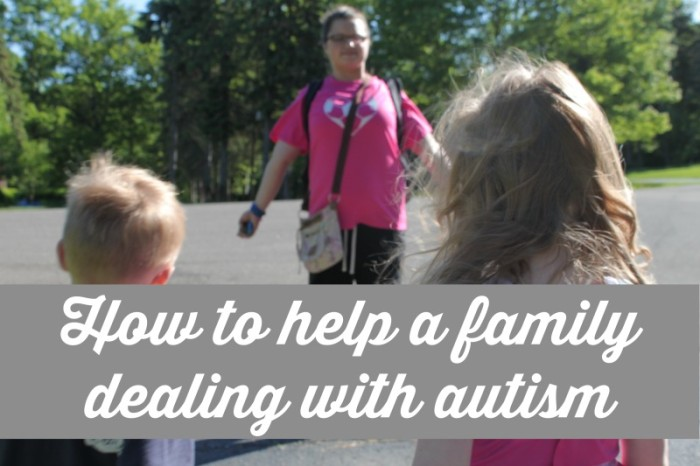 how to help a family with autism