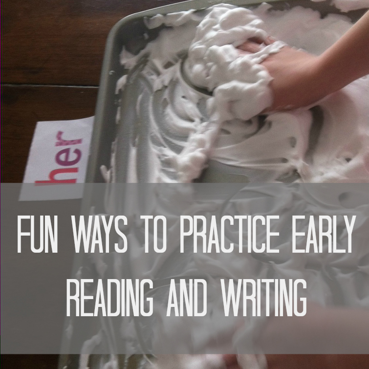 early reading and writing practice