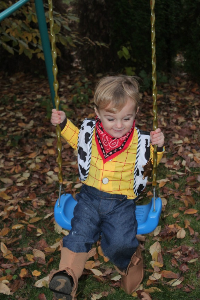 two year old swinging