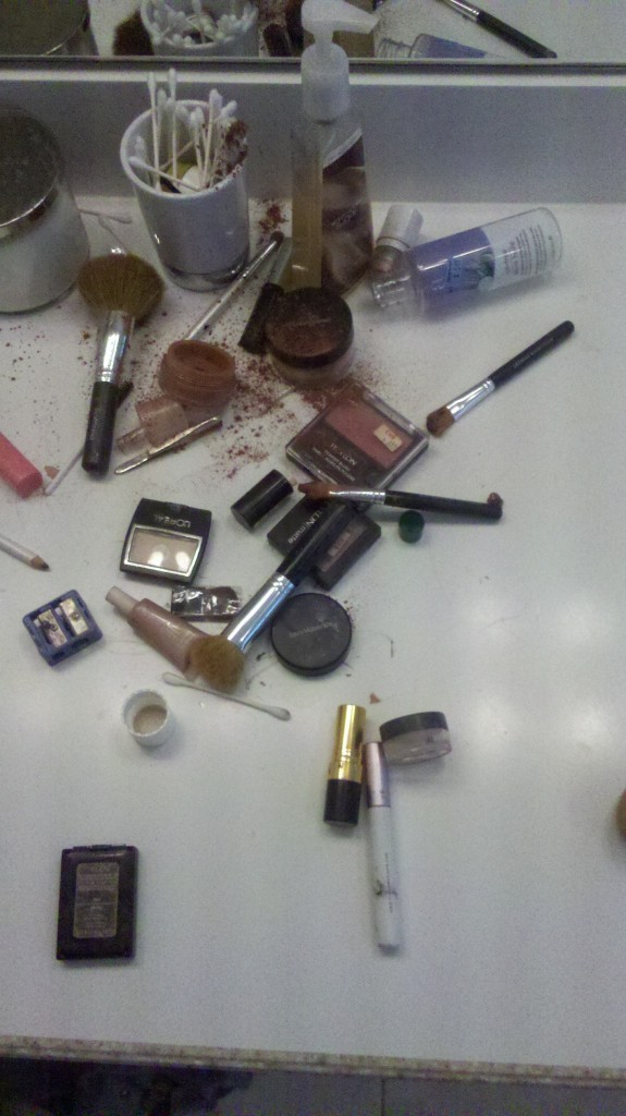 spilled make up