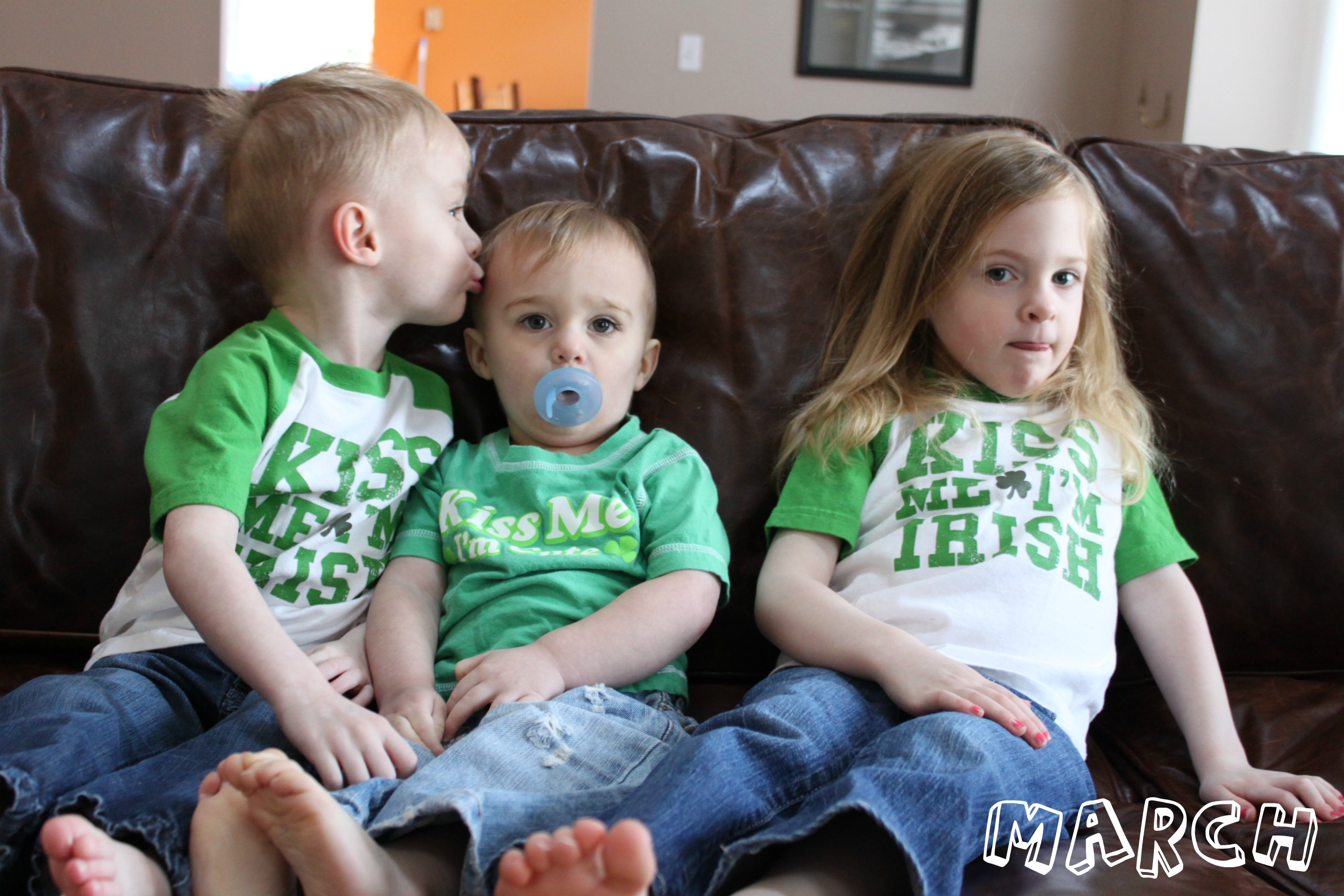 kids in st patricks day shirts