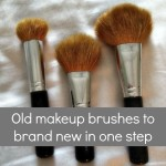Turn old make up brushes new again