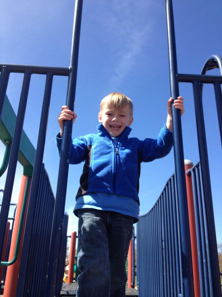 boy at park