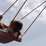 swing and sky
