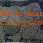How to make sensory sand