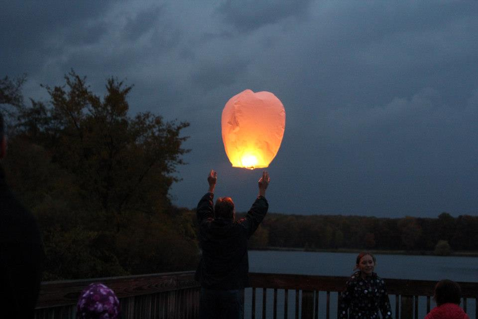 letting lantern go