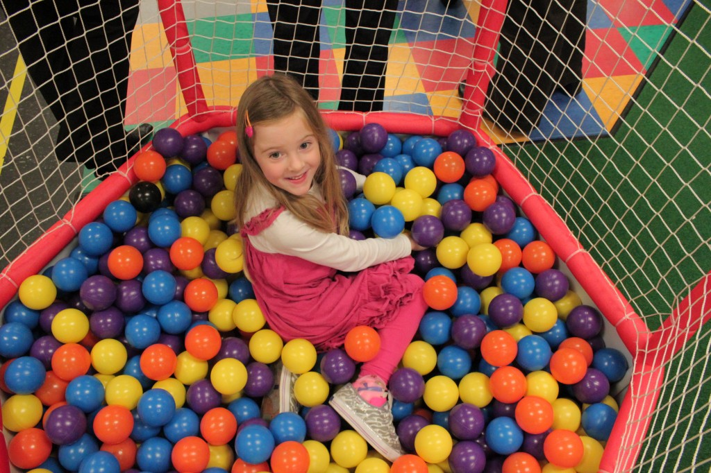 in ball pit