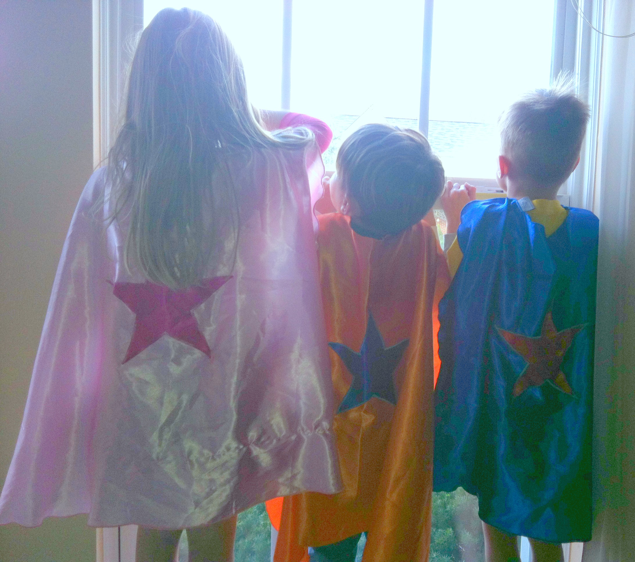 kids in capes