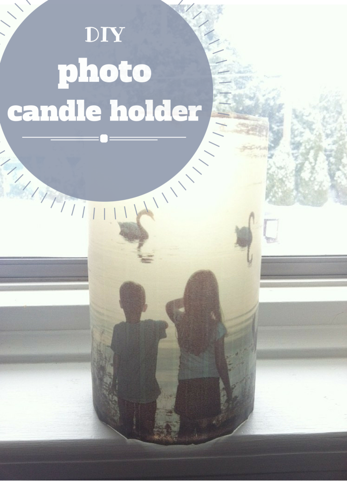 DIY photo candle holder