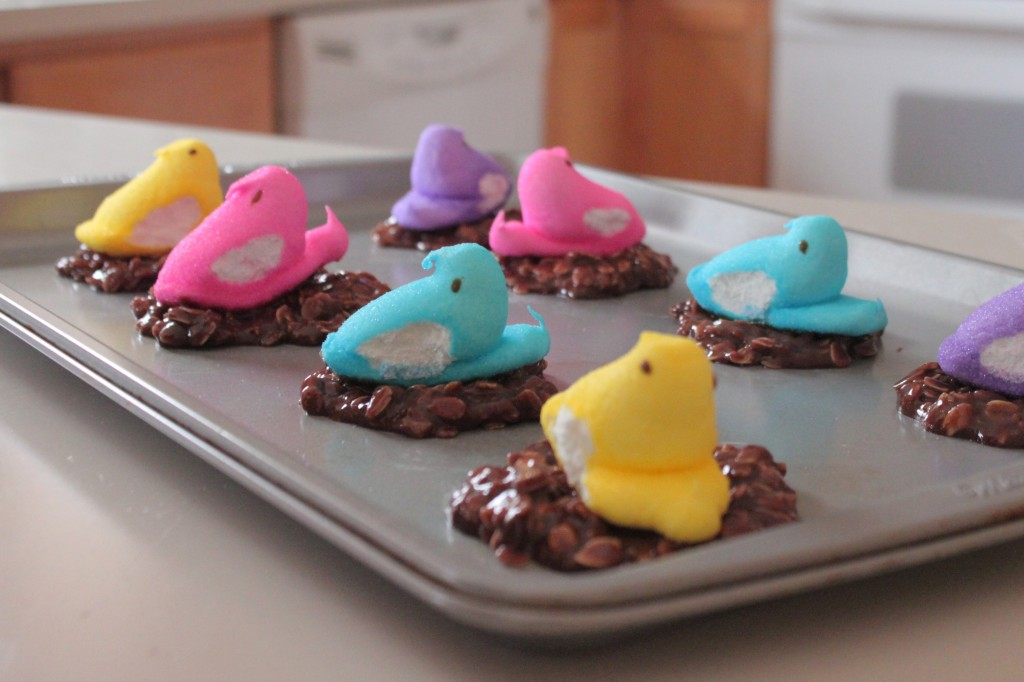 finished peep cookies