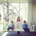 kids on porch