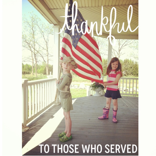 thankful to those who served