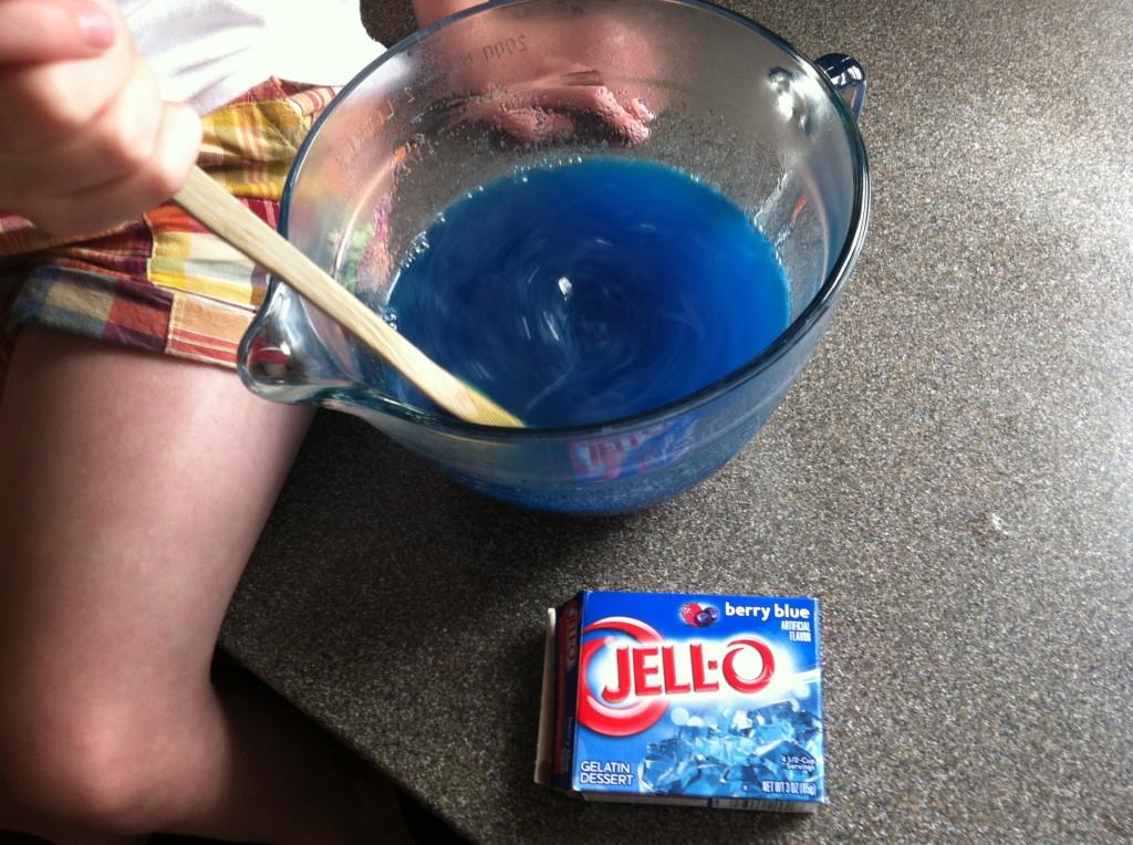 making jello