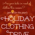 Holiday Clothing Drive 2014