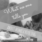 what no one tells you about homeschooling