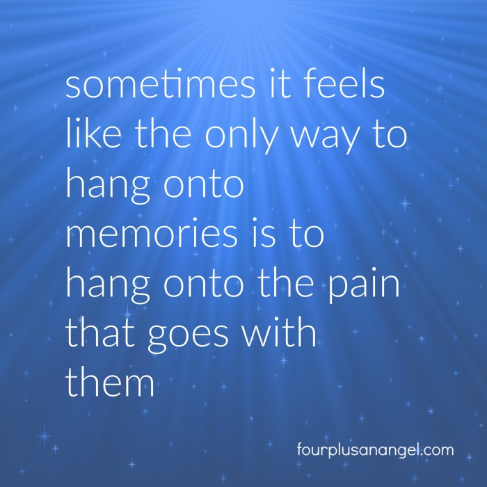 hanging onto memories