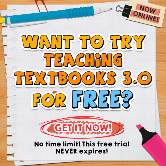 Free trial of Teaching Textbooks